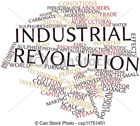 450x404 Abstract Word Cloud For Industrial Revolution With Related