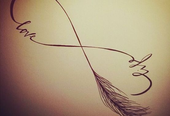 554x378 Infinity Drawing Life Love Feather Designs I Love