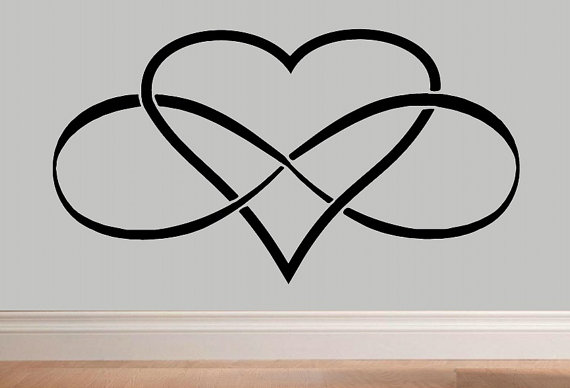 570x388 Infinity Heart Infinity Symbol Wall Decal Wd Love Wall Decal