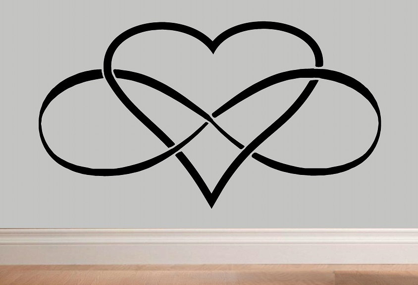 844x575 Heart With Infinity Infinity Heart Infinity Symbol Wall Decal Wd