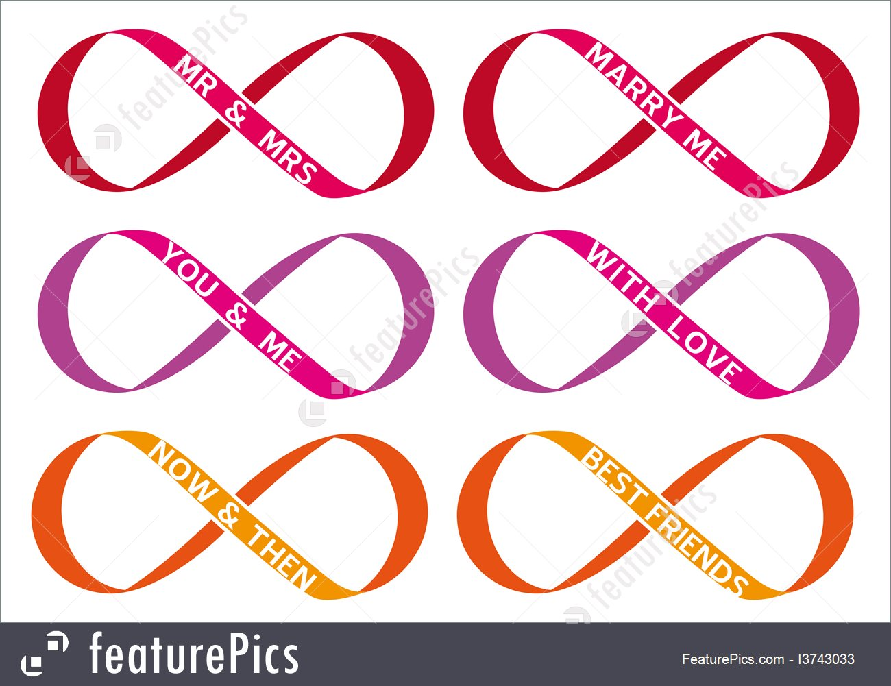 1300x1001 Infinity Sign, Vector Set