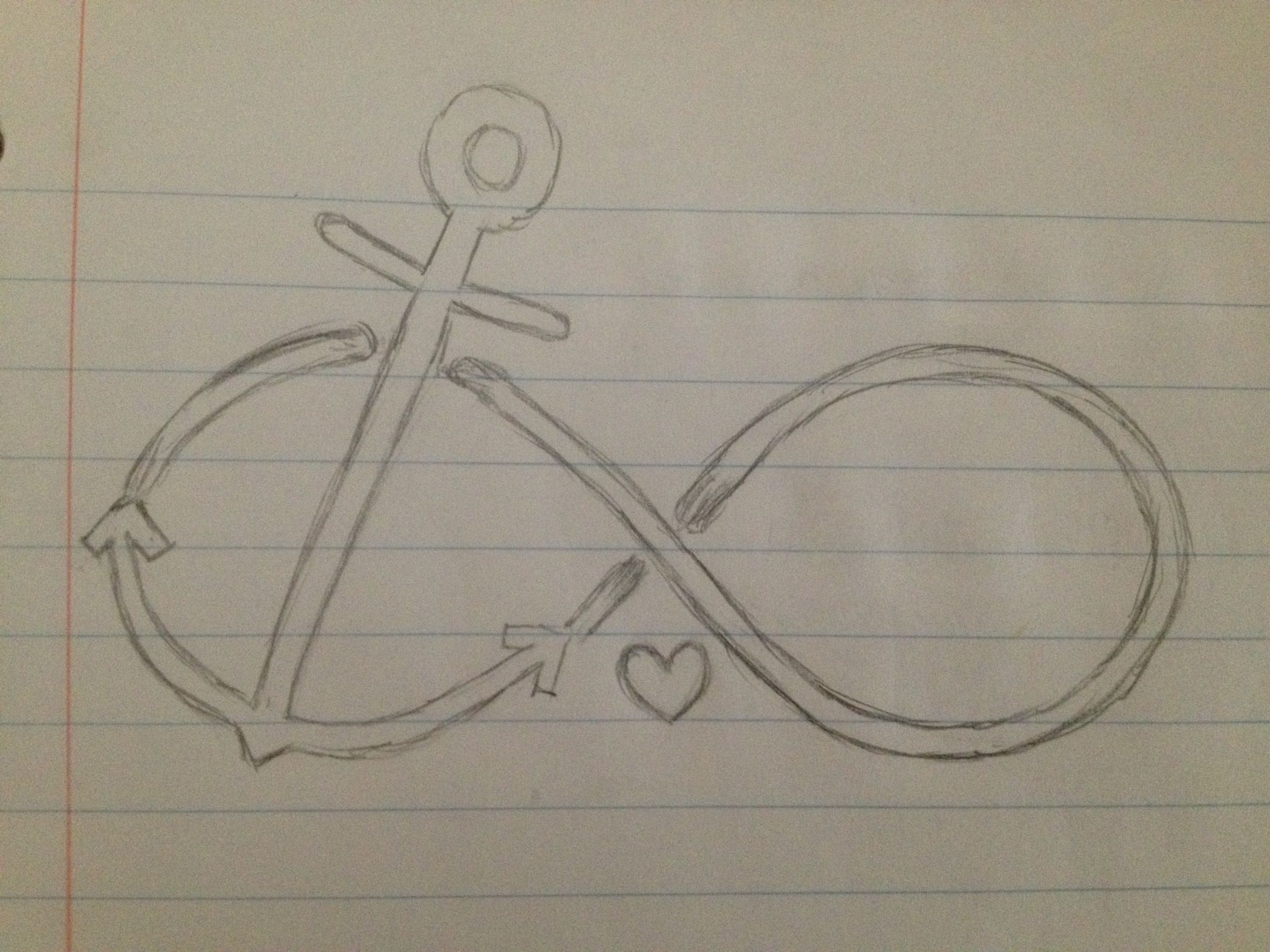 2048x1536 Possible Tattoo Sketch! Anchor Infinity Sign. I Free Handed It