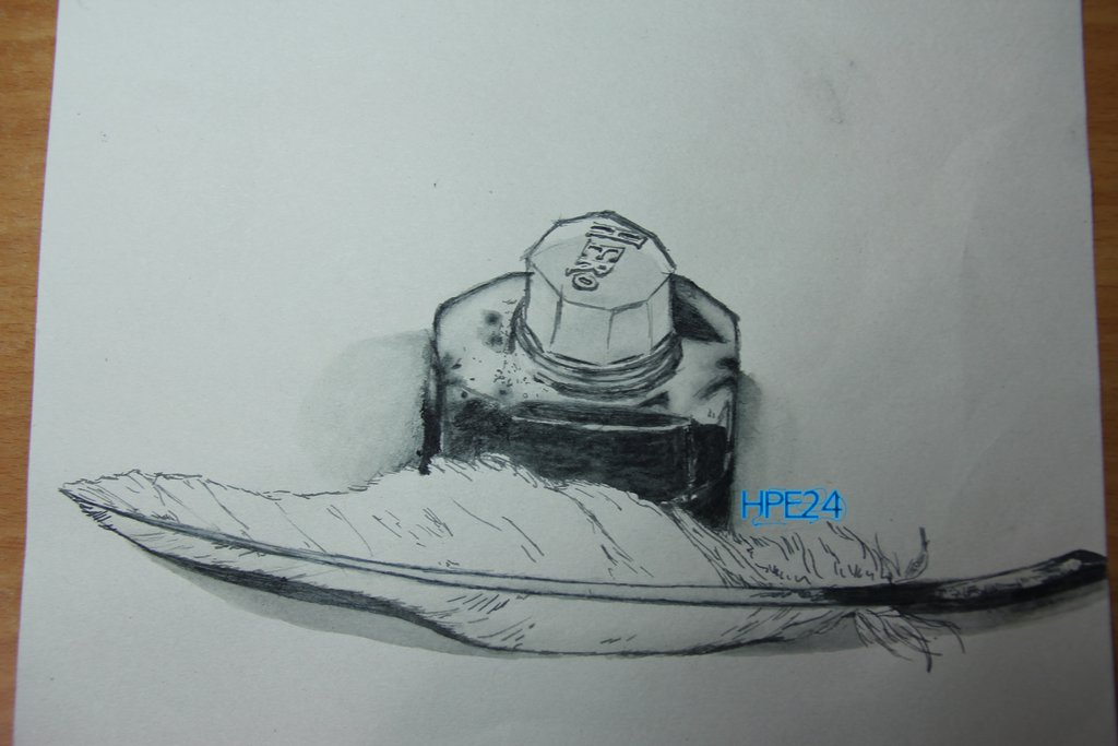 1024x683 Ink Bottle And Quill Drawing Thing By Hpe24