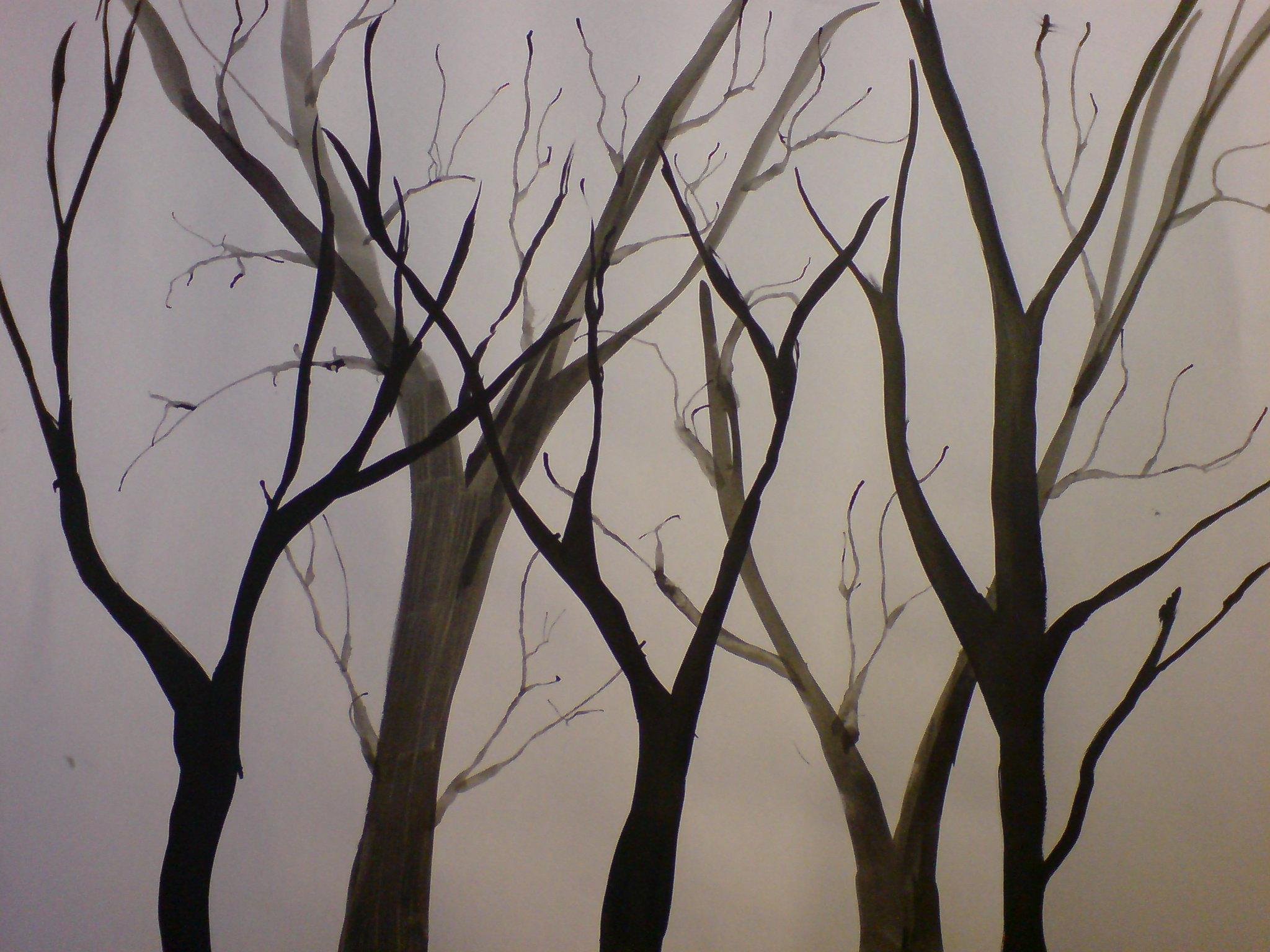 2048x1536 Ink Tree Drawings 3 By Kiriaki