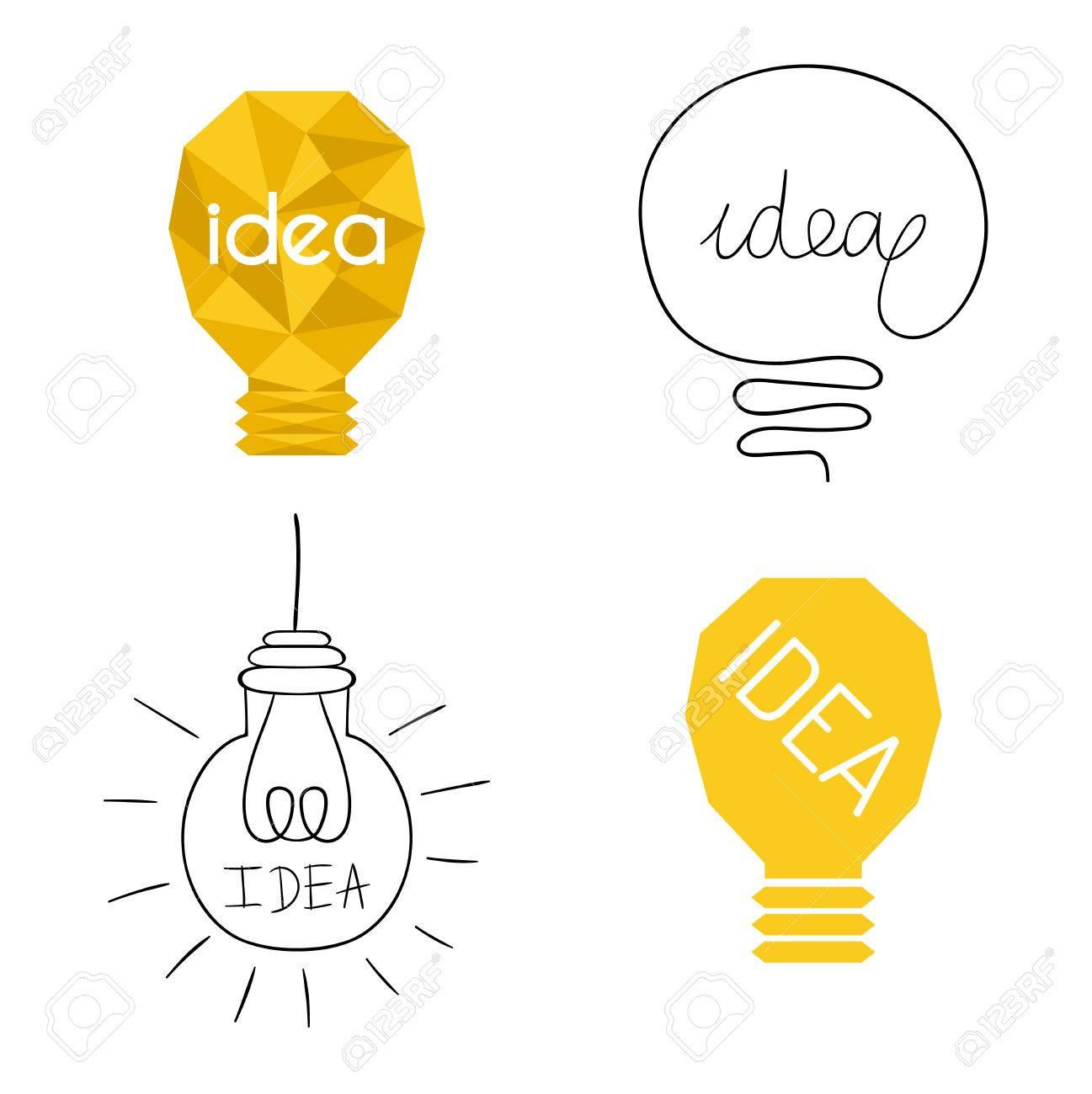 1297x1300 Drawing Idea Light Bulb Concept Creative Design. Vector Idea