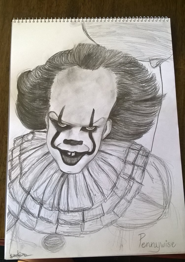 751x1065 Pennywise Drawing By Weirdly Insane