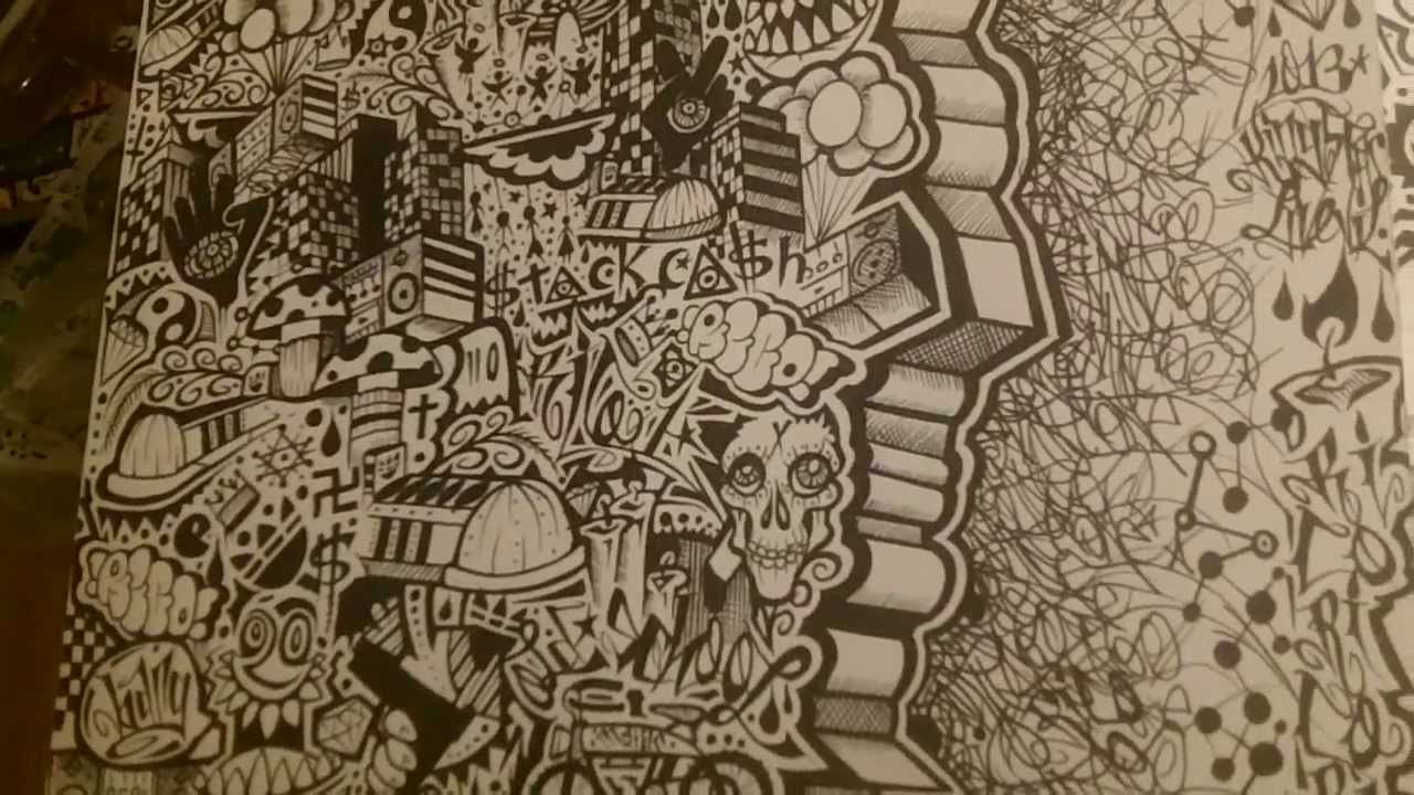1280x720 Societal Breakdown Graffiti Drawing From The Insane Asylum