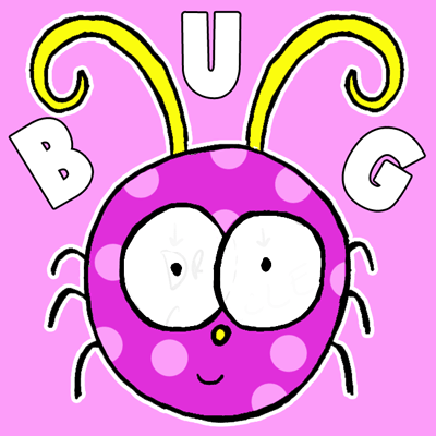 400x400 How To Draw A Cute Cartoon Bug For Kids