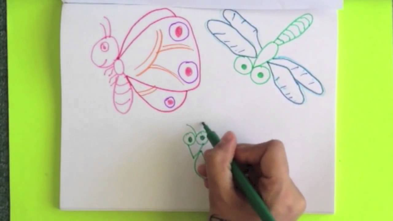 1280x720 Step By Step Drawing Insects