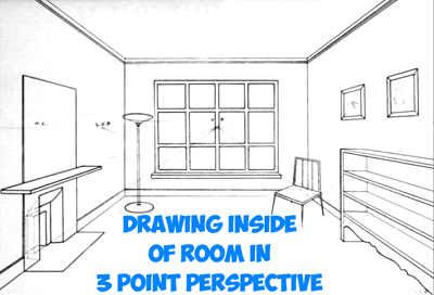 400x272 How To Draw The Inside Of A Room With 3 Point Perspective