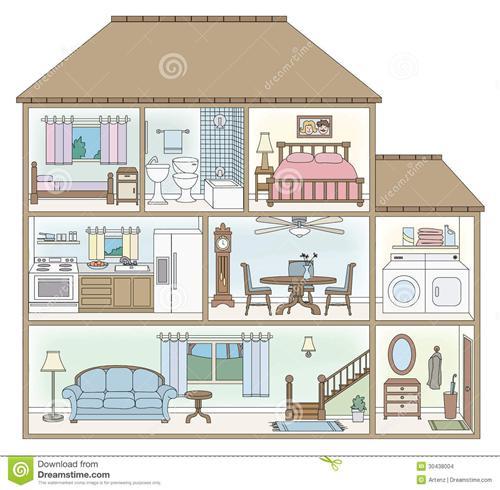 500x490 Top 10 Photos Of House Inside Drawing HaysHouse.biz