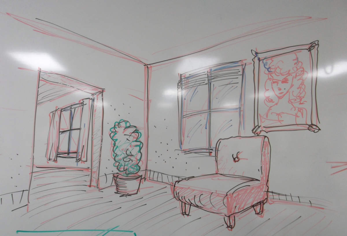 1200x816 Drawing The Inside Of A House