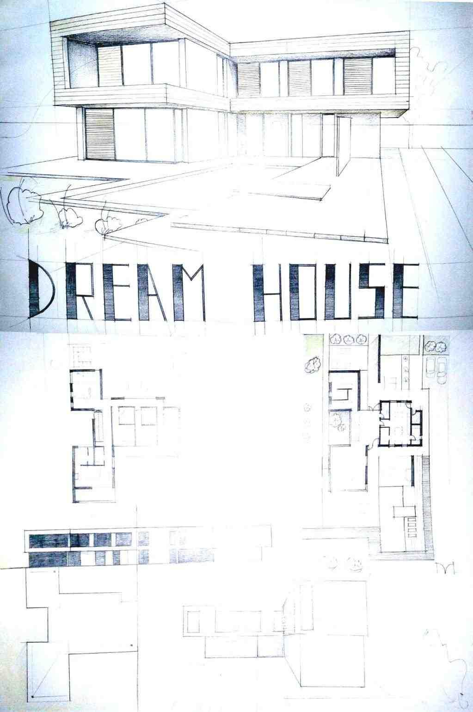 1023x1540 Modern Inside House Drawing