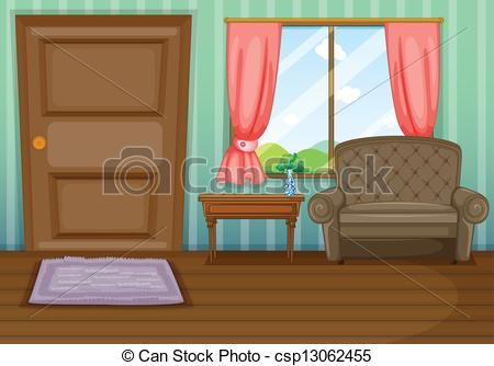 450x334 Illustration Of An Inside View Of The House Clipart Vector