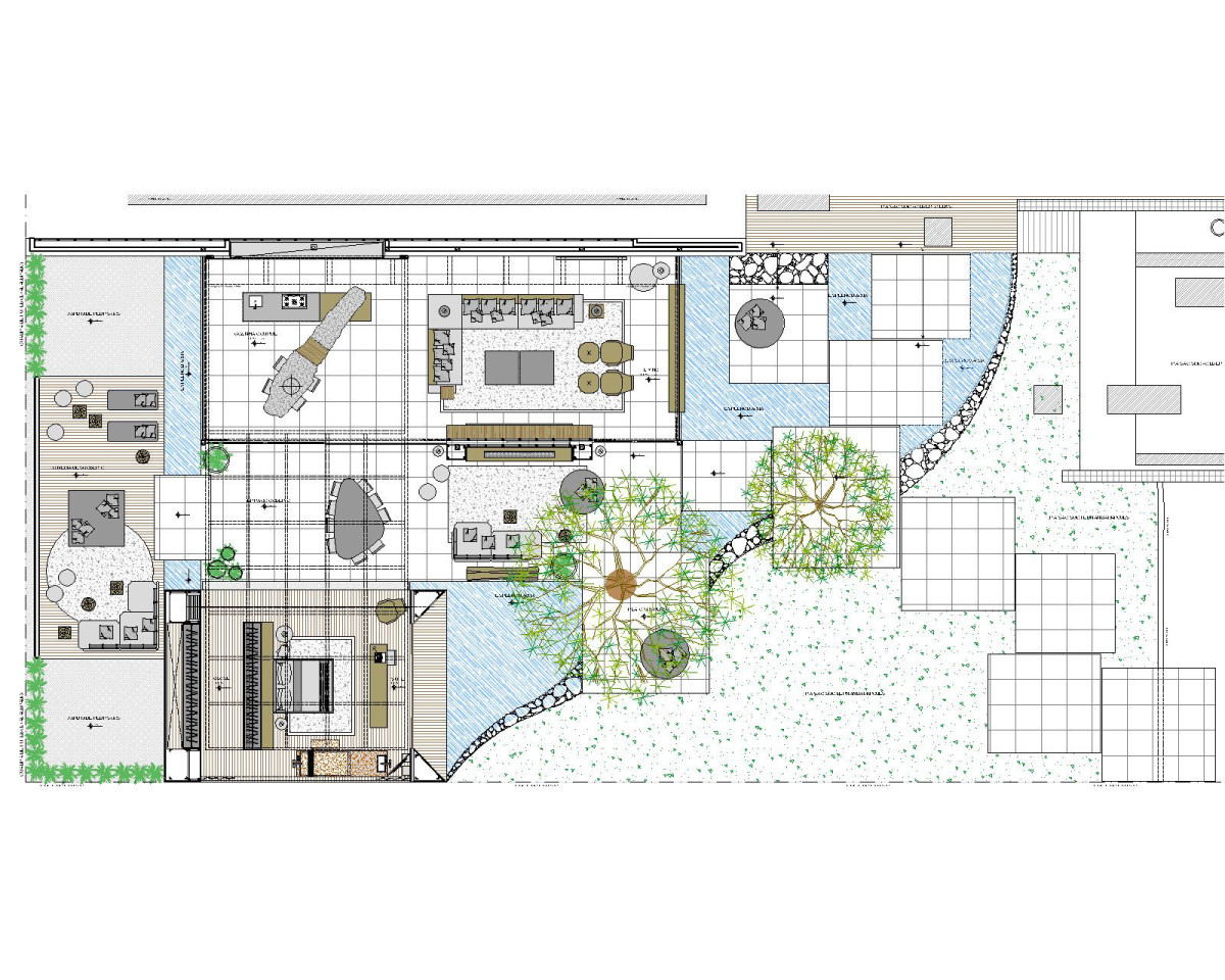 1200x960 Bird's Eye View Sketch Of Indoor Outdoor House Interior Design