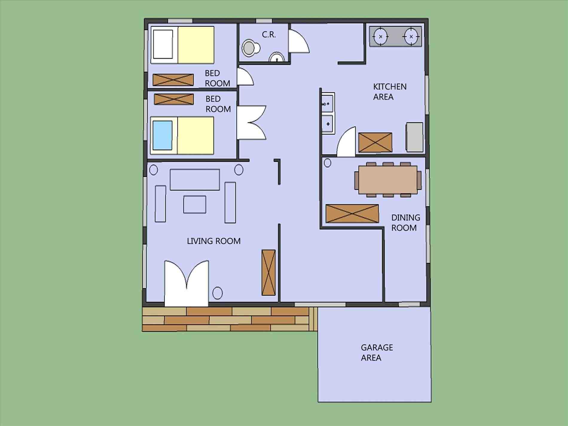 1900x1425 Modern Inside House Drawing