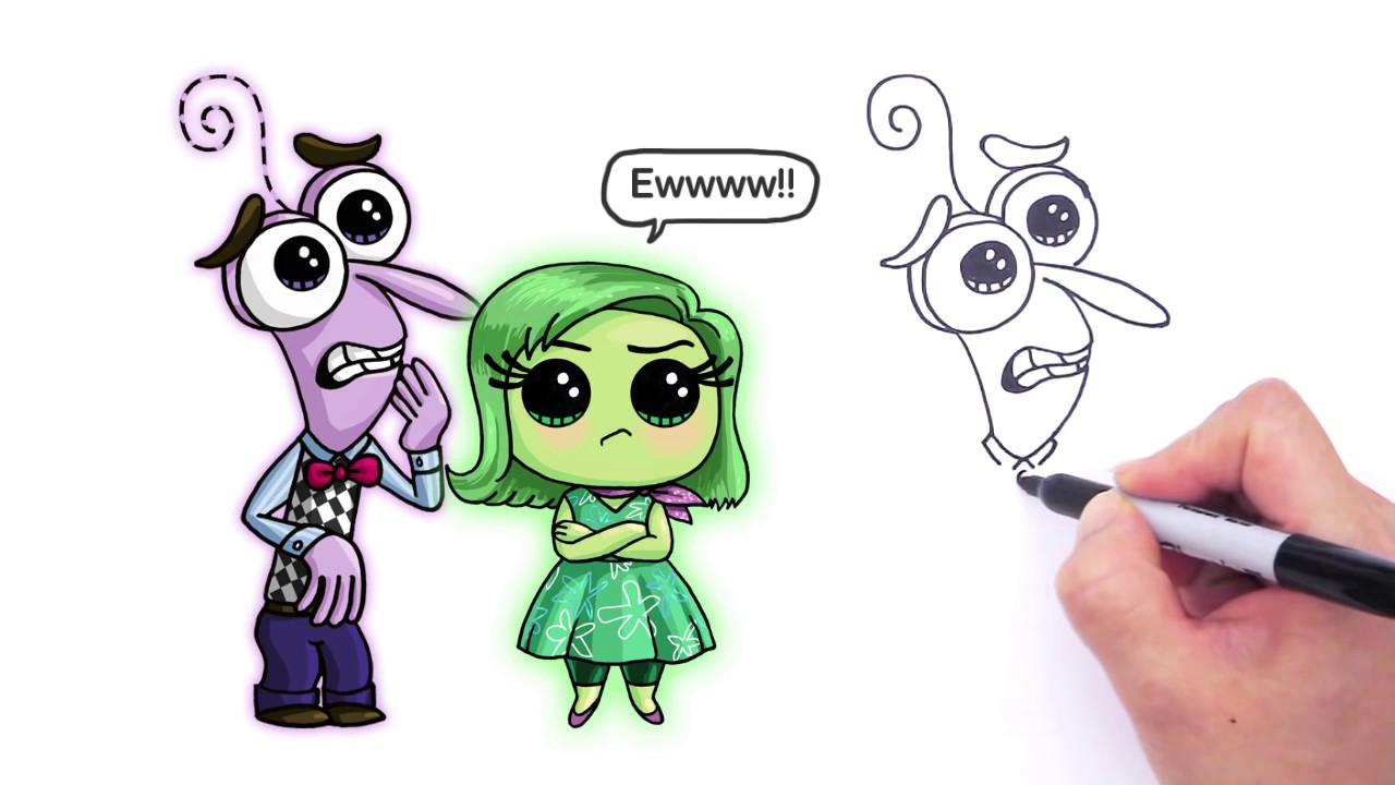 1280x720 How To Draw Fear From Pixar Inside Out Cute Step By Step