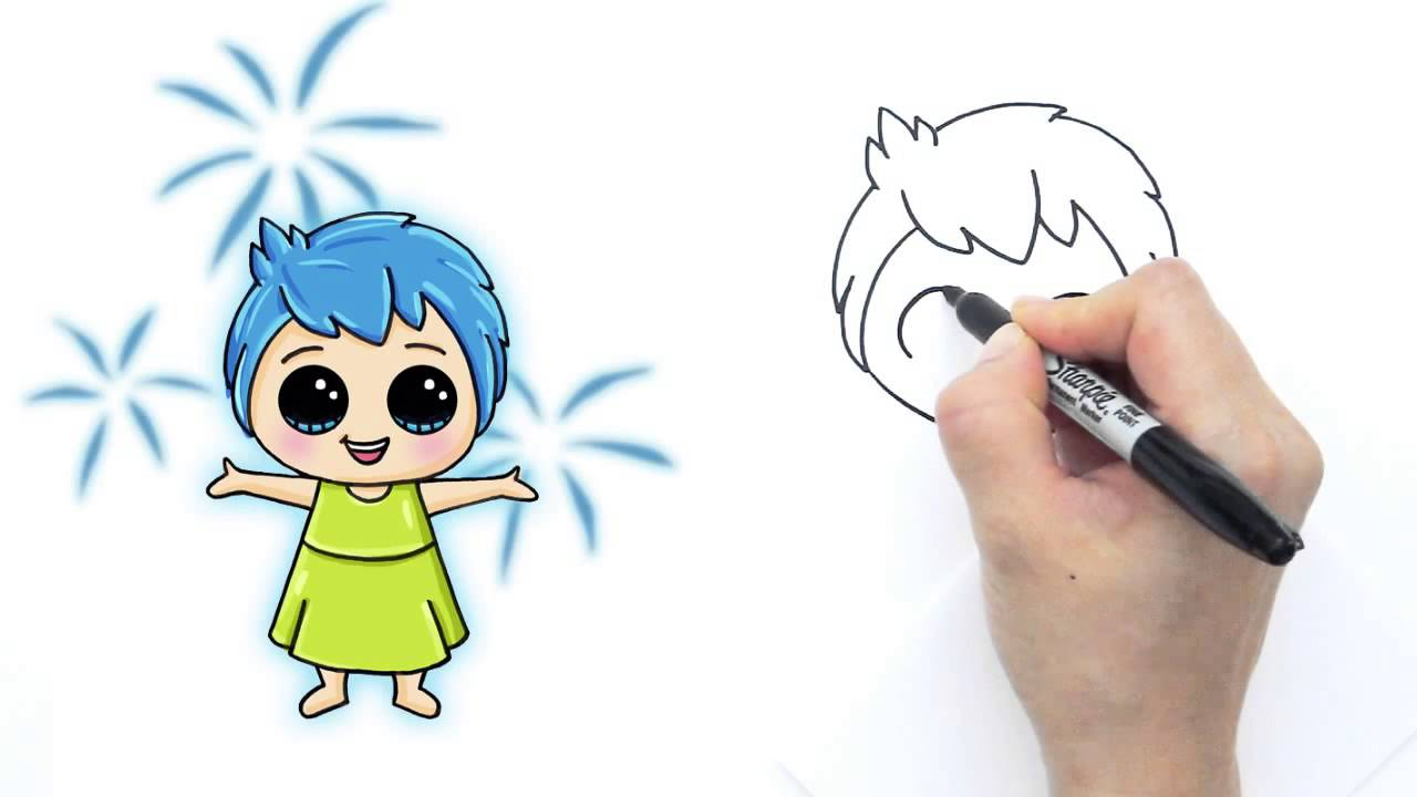 1280x720 How To Draw Joy From Pixar Inside Out Cute And Easy
