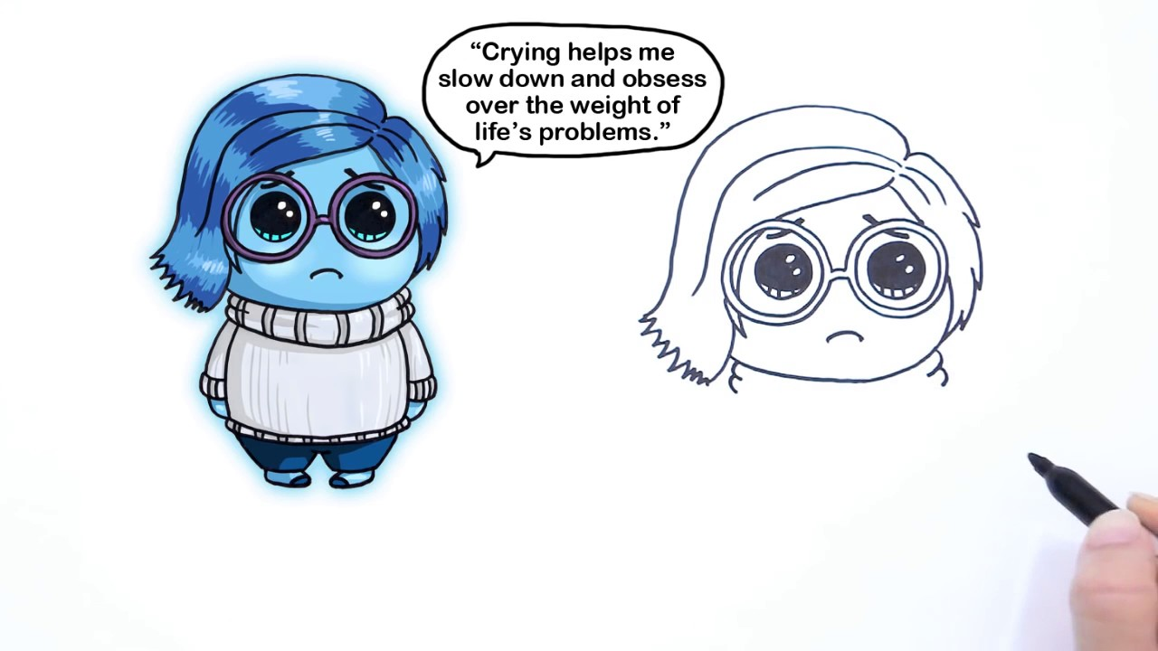 1280x720 How To Draw Sadness From Pixar Inside Out Cute Step By Step