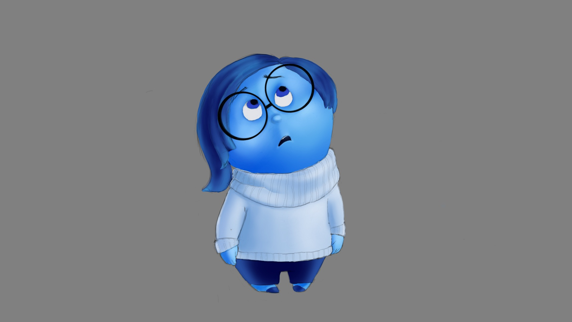 1920x1080 How To Draw Sadness From Inside Out