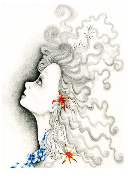 427x640 Drawing Illustration Inspirational Art Illustration Ooak