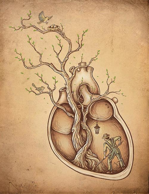500x650 Working On Your Heart Great Designs Heart Art, Art