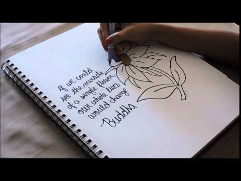 480x360 How To Draw A Flower + Inspirational Quote