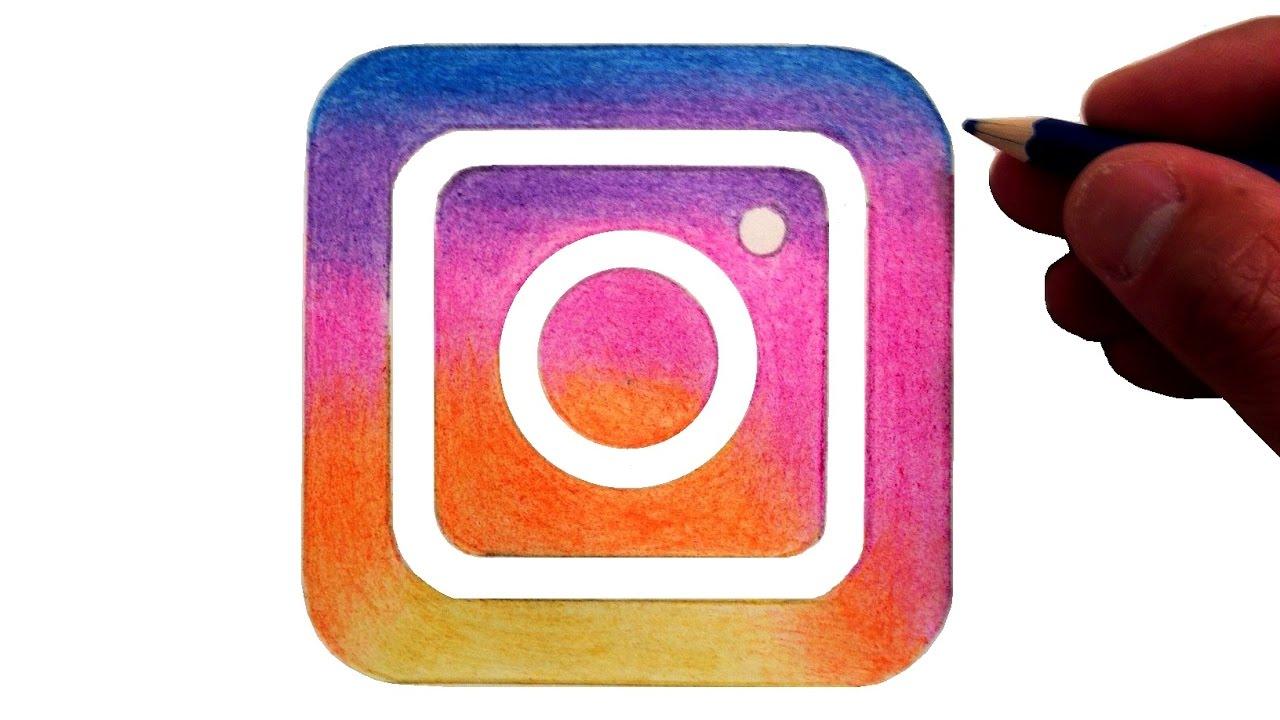 1280x720 How To Draw The New Instagram Logo