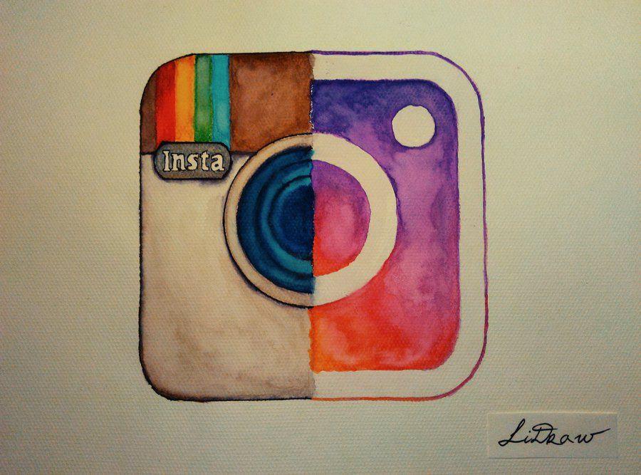 900x667 Watercolor Old Vs New Instagram Logo By Lidraw Dibujos De Redes