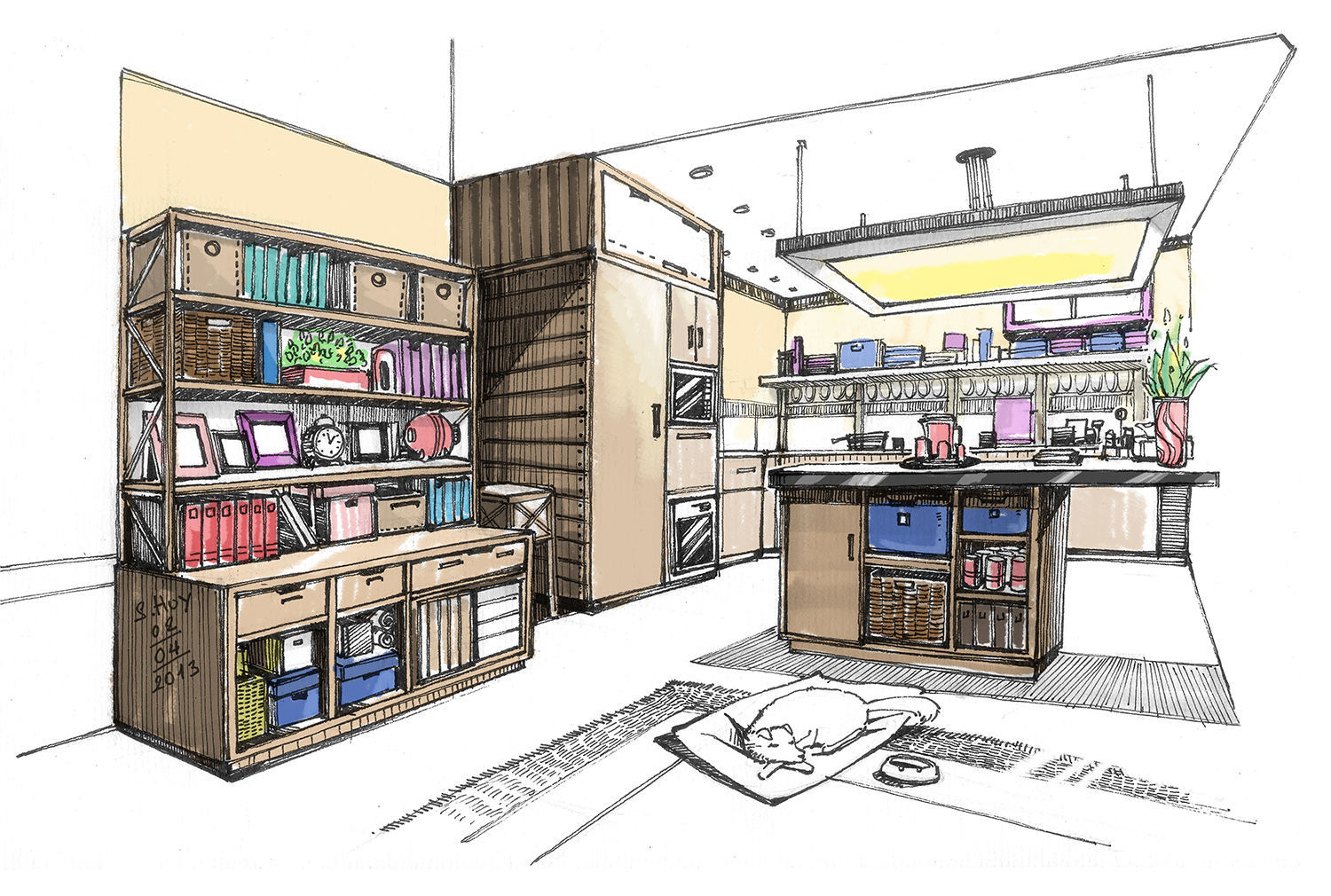 Interior Design Drawing at GetDrawings.com | Free for personal use ...