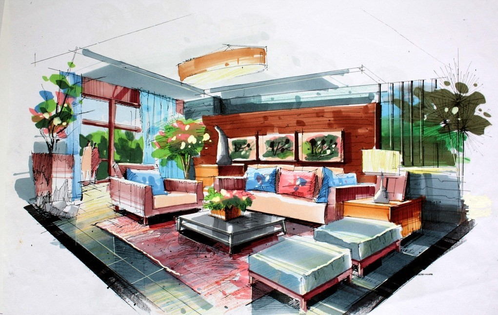 1021x645 Drawing Interior Modern Design Jpeg