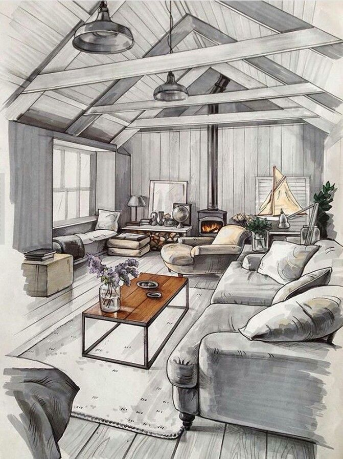 671x897 Image Result For Interior Design Drawing With People Home
