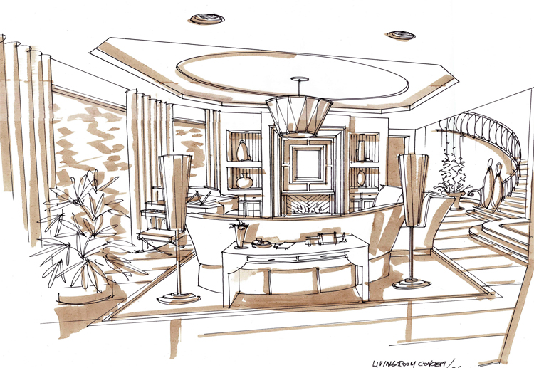 750x517 Interior Design Drawing Plan