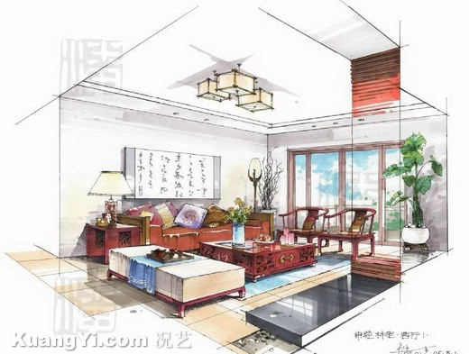 520x393 Interior Design Drawing Room