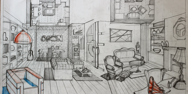 interior design bedroom drawings. 630x315 90 Interior Design Drawing Tips â\u20ac\u201c Freehand Architecture Bedroom Drawings R
