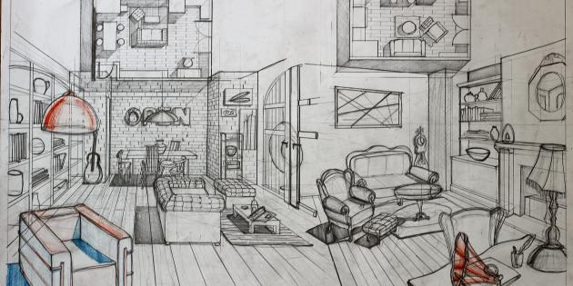 Interior Drawing At Getdrawings Free