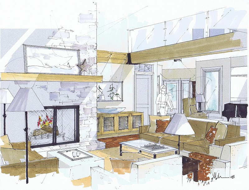 800x611 How To Draw A Interior Design