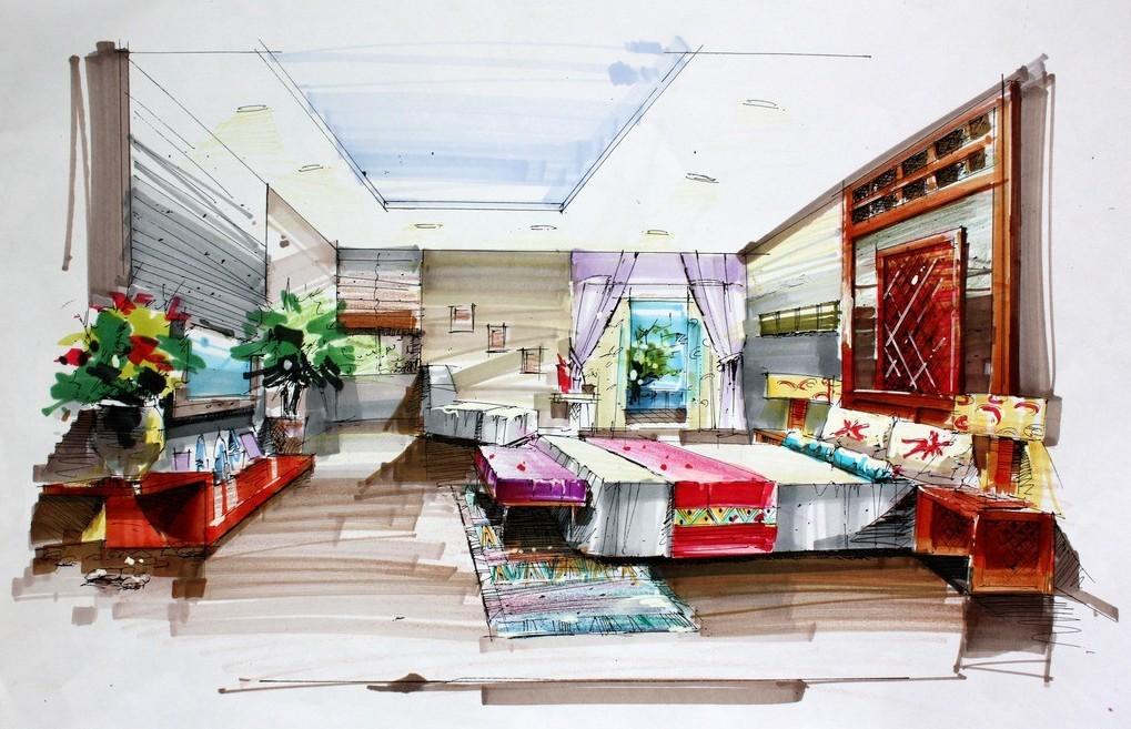 1019x657 Worthy Drawing Interior Design R49 In Amazing Decoration