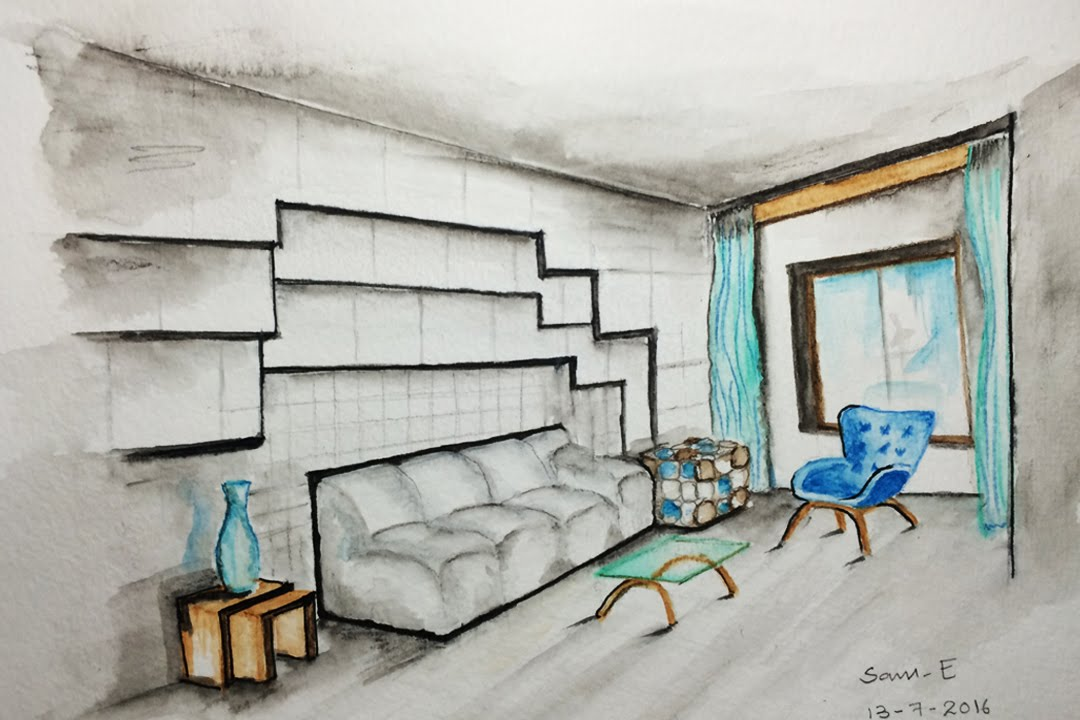 1080x720 Interior Design Sketches