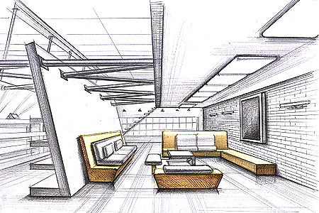 450x300 Beautiful Interior Design Drawings Perspective Pictures