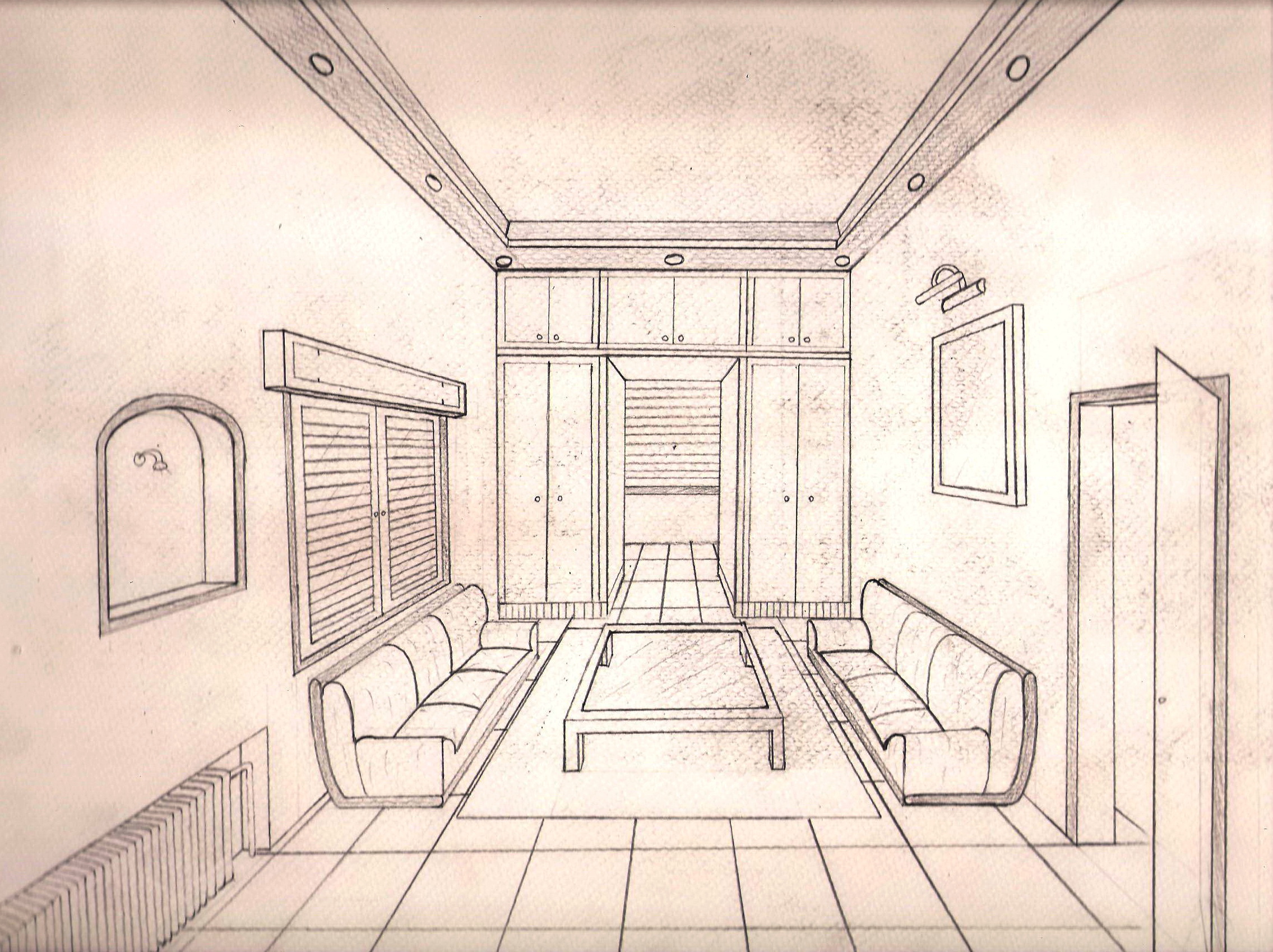 Interior Perspective Drawing At Getdrawings Free For Personal