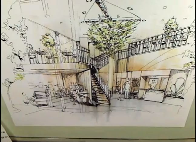 647x467 Interior Perspective Rendering With Markers Architecture Drawing