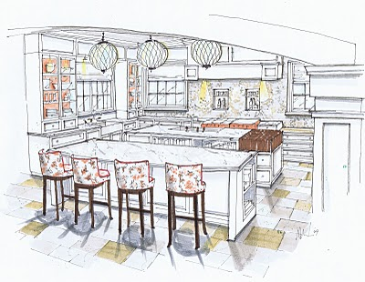 400x310 Michelle Morelan#39s Hybrid Drawings For Interior Design SketchUp  Blog
