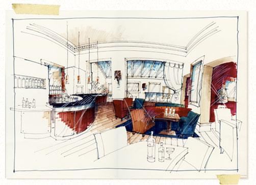 502x364 Perspective Drawing Drawing The Interior Jadineinteriordesign