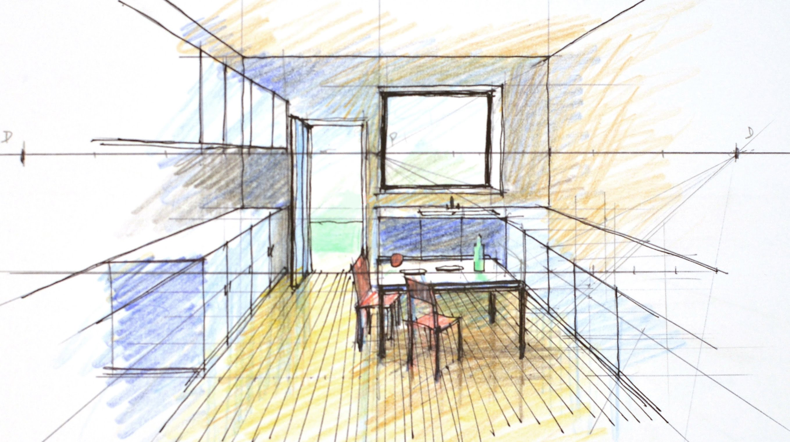 Interior Perspective Drawing at GetDrawings.com | Free for ...