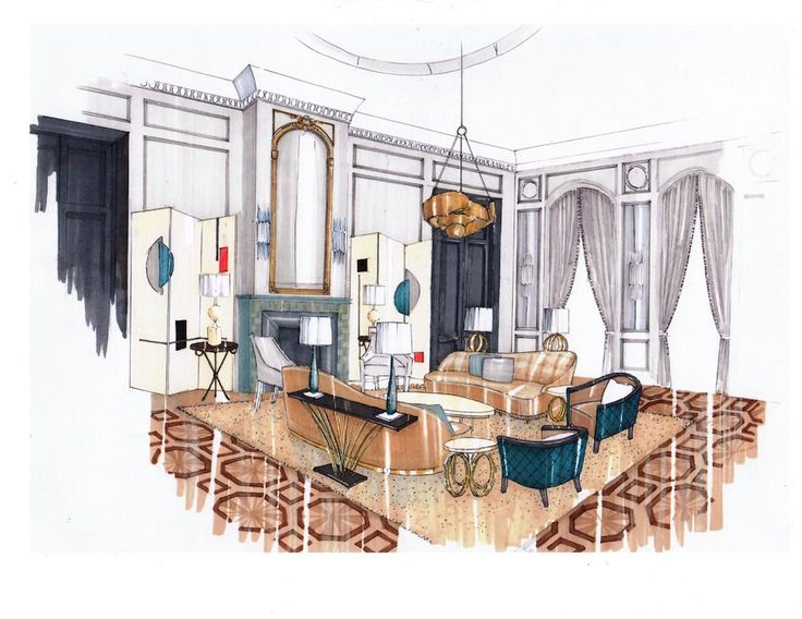 736x568 Drawing Interior Design Drawing Interior Design Interior Design