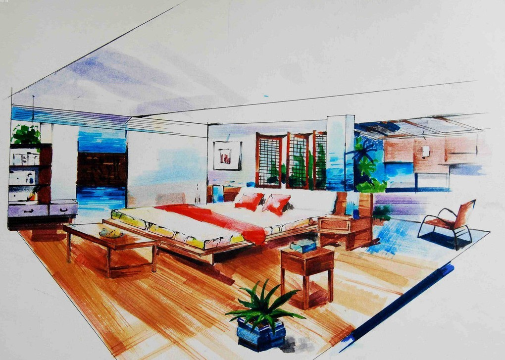 1020x727 Emejing Interior Designers Drawings Images