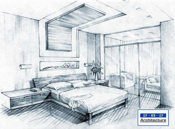 700x517 Interior Design Sketches Living Room