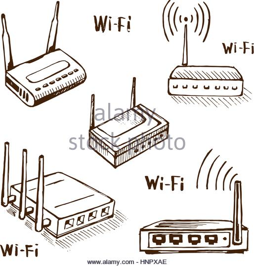 514x540 Drawing Router Internet Connection Modem Stock Photos Amp Drawing