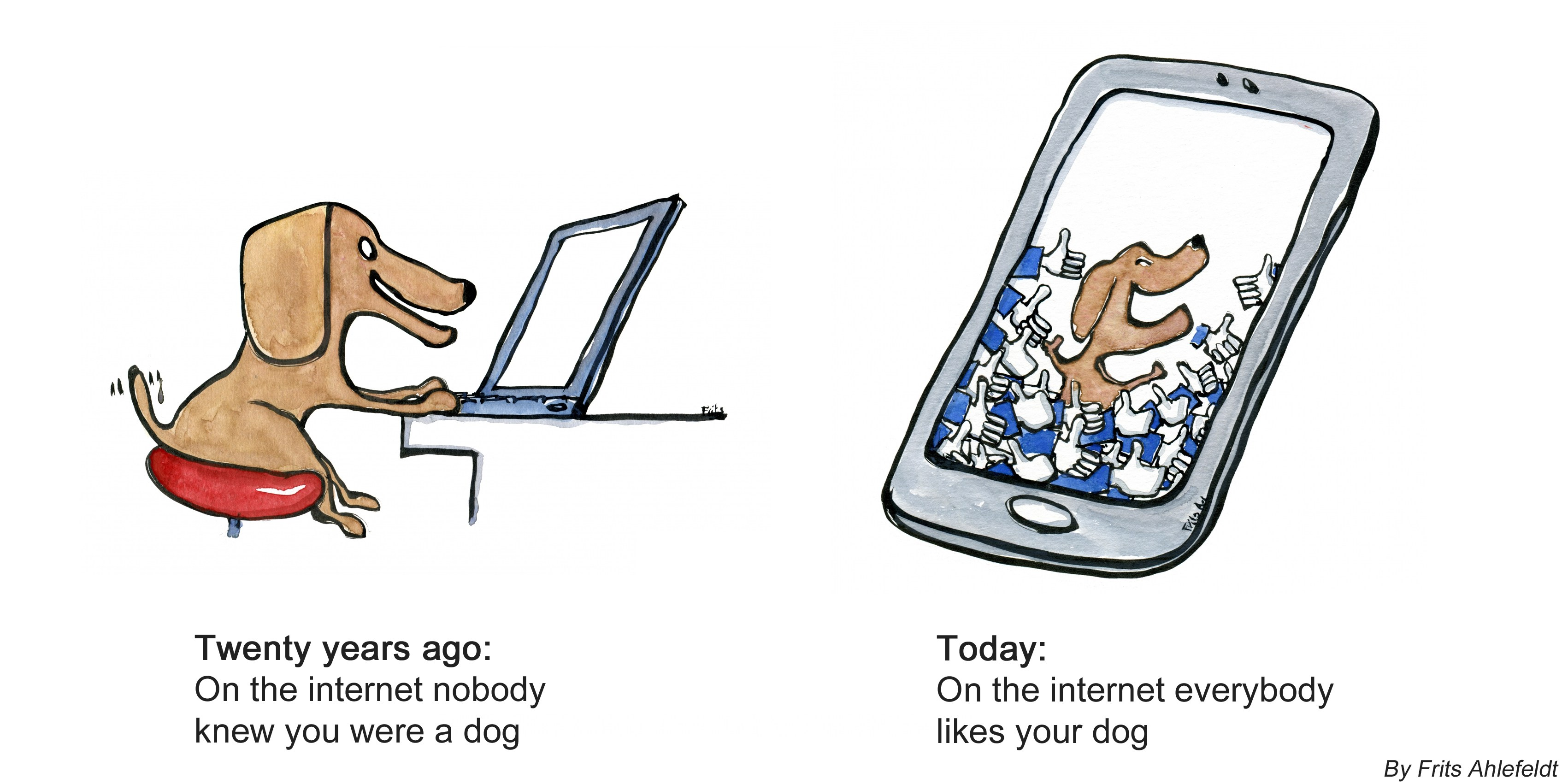 3402x1701 Dog On The Internet Drawing By Frits Ahlefeldt Frits Ahlefeldt